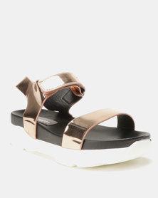 5b29c835b40 Utopia Ladies Fringed Double Buckle Thong Sandals Black