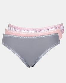 Playtex 3 Pack Premium Hi-Cut Panties Multi