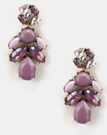 Lily & Rose So Pretty Drop Earrings Purple