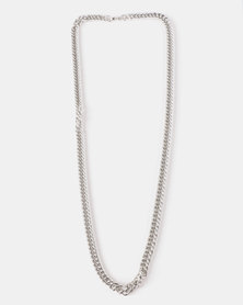 Xcalibur Steel Chunky Chain Silver-Toned