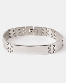 Xcalibur Simple Steel Bracelet Silver-Toned