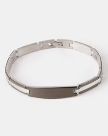 Xcalibur Steel Detail Bracelet Silver-toned