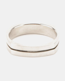 Xcalibur Steel Band Ring Silver-Toned