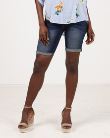 Soviet Sofia Bermuda Shorts Dark Blue