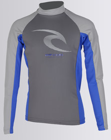Rip Curl Icon Phaser Long Sleeve Grey