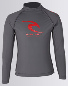 Rip Curl Icon Long Sleeve Charcoal