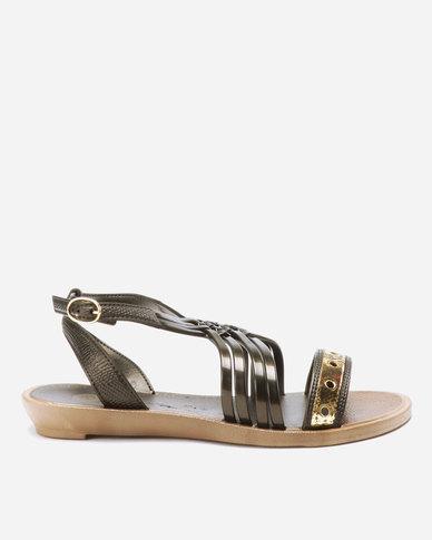 Grendha Ornare Sandals AD Gunmetal