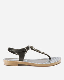 Grendha Jewel Sandals Fem Black