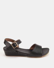 Pierre Cardin Comfort Wedge Sandals Black