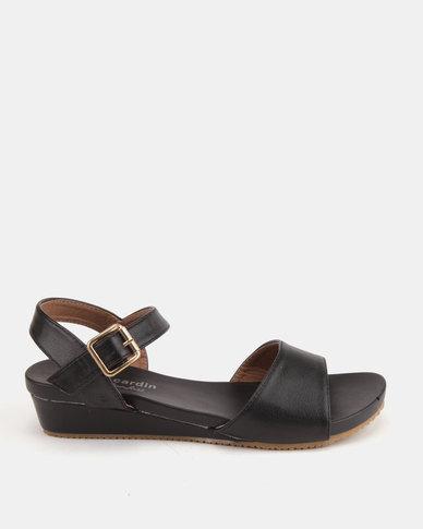 a6865e5a8573 Pierre Cardin Comfort Wedge Sandals Black