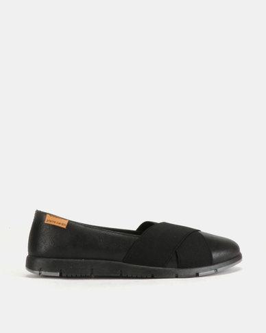 Pierre Cardin Sporty Flat Slip On Black