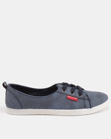 Pierre Cardin Low Vamp Plimsol Sneakers Denim Blue