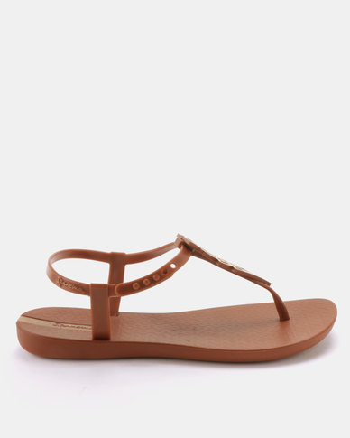 9a0247262985 Ipanema Class Glam Fem Sandals Brown Gold