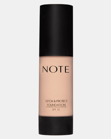 Note Cosmetics Detox And Protect Foundation Pump 02 Natural Beige