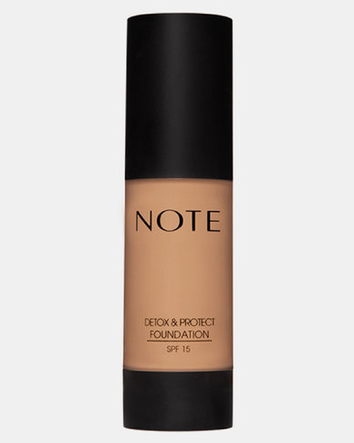 Note Cosmetics Detox And Protect Foundation Pump 07 Apricot