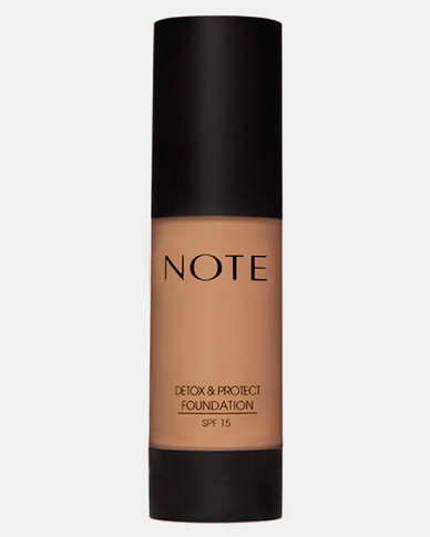 Note Cosmetics Detox And Protect Foundation Pump 08 Sunny