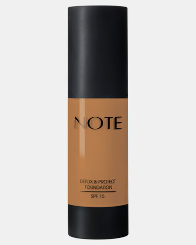 Note Cosmetics Detox And Protect Foundation 113 Honey Bronze