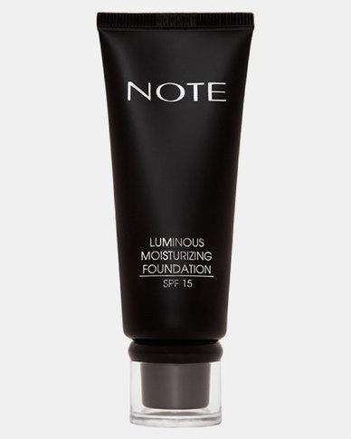 Note Cosmetics Luminous Moisturizing Foundation 100 Cashmere Beige
