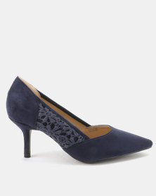 Queue Court With Lace Insert Navy