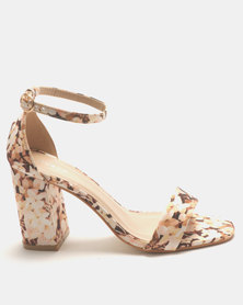 Queue Closed Back Block Heels Nude Multi