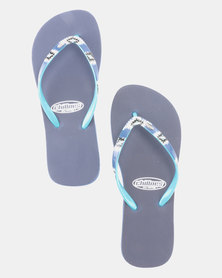 Chilloes Native Flip Flops Navy