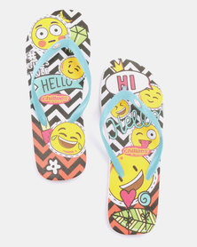 Chilloes Emoji Flip Flops Multi