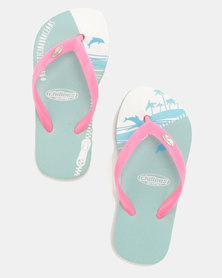 Chilloes Dolphin & Pink Flip Flops Multi