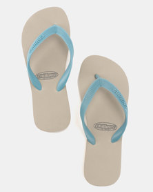 Chilloes Flip Flops Grey Blue