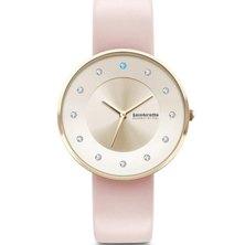Lambretta Ladies Swarovski Stones & Leather Strap Watch Pink