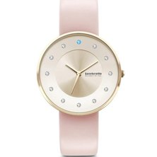 Lambretta Ladies Swarovski Stones & Leather Strap Watch Pink