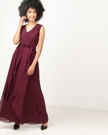 non-european® Bridesmaid Gown Burgandy