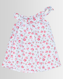 Poogy Bear Woven Summer Dress Rose Pink