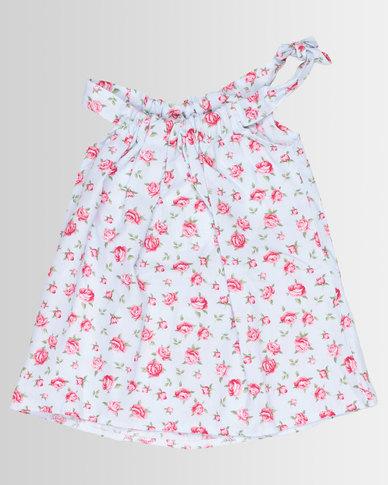 Poogy Bear Woven Summer Dress Rose Pink