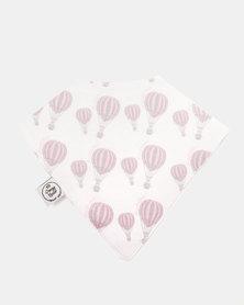 Poogy Bear Hot Air Balloon Bandana Bib Pink