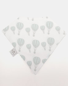 Poogy Bear Hot Air Balloon Bandana Bib Aqua