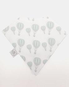 Poogy Bear Hot Air Balloon Bandana Bib Aqua