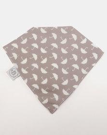 Poogy Bear Umbrellas Bandana Bib Grey