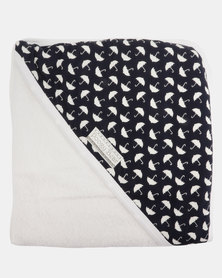 Poogy Bear Umbrellas Hooded Towel Navy