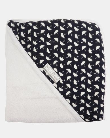 Poogy Bear Umbrellas Hooded Towel Navy
