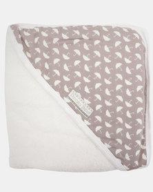 Poogy Bear Umbrellas Hooded Towel Grey
