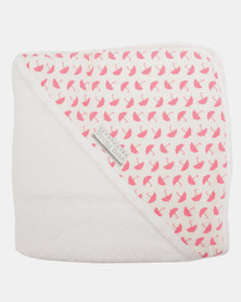 Poogy Bear Umbrellas Hooded Towel Pink