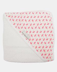 Poogy Bear Umbrellas Hooded Towel Pink