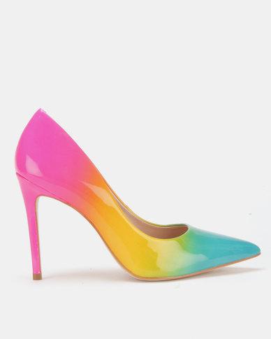 2910a1ff26e Steve Madden Zaney Heels Rainbow Multi