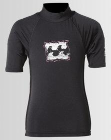 Billabong Boys Blk Riot SS Wet Shirt Black
