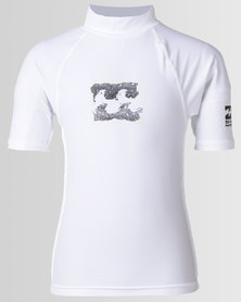 Billabong Riot Short Sleeve Wetshirt White