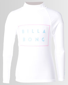Billabong Boys Die Cut LS Wetshirt White
