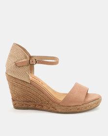 Utopia Espadrille Wedge Sandals Soft Pink