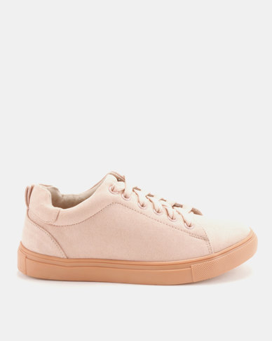 Utopia Luxe Lace Up Sneakers Pink
