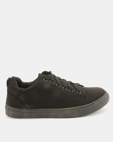Utopia Luxe Lace Up Sneakers Black