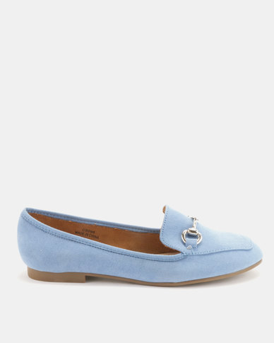 Utopia Saddle Bit Moccasins Blue